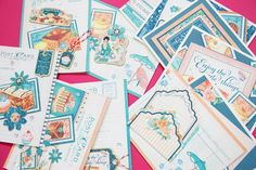 Create fun birthday cards using Graphic 45's Cafe' Parisian Collection.