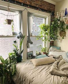 Wunderbar Schlafzimmer Im Jungle Style. #Schlafzimmer #Einrichtung #Einrichtungsidee  #Zimmerpflanzen #Junglestyle