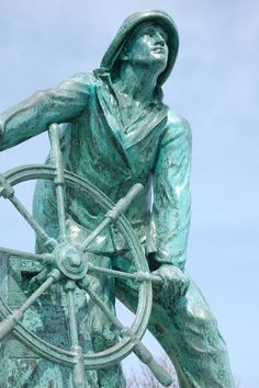 Man at the Wheel Oh The Places You'll Go, Great Places, Places Ive Been, Free Travel, Travel Usa, Gloucester Massachusetts, Spanish Galleon, The Lightning Thief, Nautical Knots