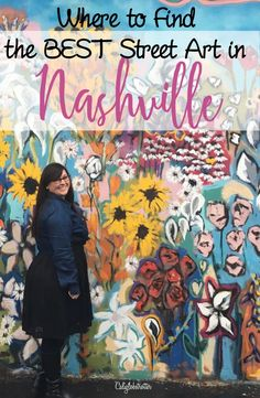 Nashville's best and easiest Street Art to find! - Tennessee - California Globetrotter north america travel Easy Wall Murals to Find in Nashville Nashville Downtown, Nashville Murals, Nashville Tennessee, Nashville Vacation, Museums In Nashville, Nashville Art Museum, Nashville Restaurants, Best Street Art, Amazing Street Art