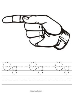 Sign Language Letter Worksheets Perfect for Mia