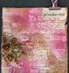 Scraps of Elegance - Gel medium resist tutorial