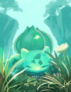 Bulbasaur is the only starter Pokemon that has 2 types right off the bat (Grass and Poison). Most of the other starters don't get a second type until they evolve.