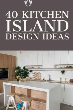 40 Awesome Kitchen Island Design Ideas (Modern Decor & Layout) Discover these inspiring kitchen island design ideas and start planning your dream kitchen. From modern and luxury designs to farmhouse styles, open concept kithcen island, small kitchen island with seating and bench, sink, stove, and lightings. #kitchenisland #kitchenremodel #kitchendecor #kitchenideas<br> Island With Stove, Rustic Kitchen Island, Kitchen Island With Seating, Modern Kitchen Cabinets, Farmhouse Style Kitchen, Kitchen Ideas, Kitchen Design Open, Small Space Kitchen, Luxury Kitchen Design