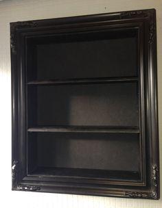 Bathroom cabinet storage framed shelf black by ChicybeeDisplayUK