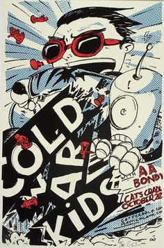 cold war kids and aa bondy - gig poster