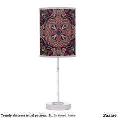 Trendy abstract tribal pattern.  Brown and pink. Desk Lamp  For home design and decor. Beautiful home accessories ideas. Luxury elegant style.