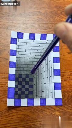 3D stereoscopic-cycheatpoker.com [Video] | Geometric design art, 3d art drawing, Doodle art designs 3d Pencil Drawings, 3d Art Drawing, Art Drawings For Kids, Art Drawings Sketches Simple, Easy 3d Drawing, Art 3d, 3d Pencil Art, Illusion Drawings, Illusion Art