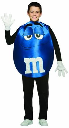 Rasta Imposta M&M's Poncho, Blue, Teen 13-16- Click image twice for more info - See a larger selection of kids tv and movie costumes  at  http://costumeriver.com/product-category/kids-tv-and-movie-costumes/ -  kids, holiday costume , event costume , halloween costume, cosplay costume, classic costume,  clothing, gift ideas