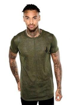 Judas Sinned - Space Dye Crew T-Shirt - Dark Green | Turn to Judas Sinned for distinctive designs in premium interest fabrics. Shop the full collection now @ Urban Celebrity!