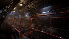 Sci-Fi Corridor Environment - Unreal Engine 4, Roman Pivtoranis on ArtStation at https://www.artstation.com/artwork/rXRdG