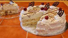 Sütés nélküli Oroszkrém torta Fudge, Tiramisu, Cake Recipes, Recipies, Food And Drink, Sweets, Cheese, Ethnic Recipes, Desserts