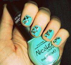 Cheetah print on blue.