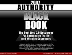 authority black book screenshot Web Design, Web 2, Black Books, Best Web, Author, Good Things, Marketing, Quotes, Quotations