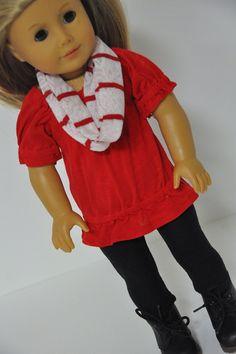 American Girl Doll Clothes Trendy Red Peasant by CircleCSewing