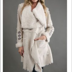 Biya By Johnny Was Coat In Cream