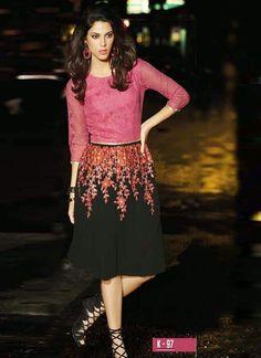 Get the latest collection of Designer Kurtis. Visit- www.glamzon.com
