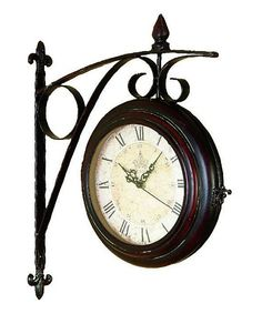 This Antique Side Wall Clock by UMA Enterprises is perfect! #zulilyfinds