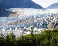 Mendenhall Glacier...one of my favorite sights from our Alaskan Cruise - also checked out the visitor's centre
