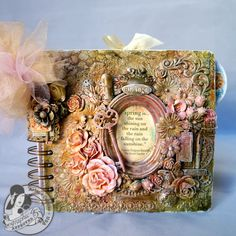 Graphic 45 Secret Garden Mini Album with Mixed Media cover by Arlene Cuevas