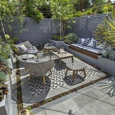 Private Small Garden Design ideas for this small south London courtyard garden e. - Private Small Garden Design ideas for this small south London courtyard garden evolved from the client's love of the hand made Italian tiles Source by - Outdoor Living Areas, Outdoor Rooms, Outdoor Seating, Lounge Seating, Floor Seating, Outdoor Lounge, Living Spaces, Outdoor Pergola, Lounge Areas