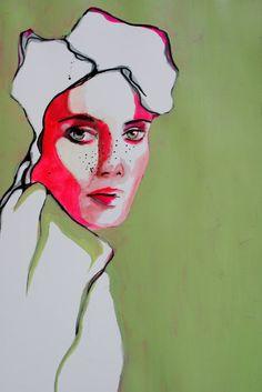"Saatchi Art Artist Anna Matykiewicz;  Slikarstvo, ""Dekle z pege"" #art"