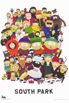 This is a mix picture of all the characters from the series.Wallpaper and background photos of South Park characters for fans of South Park images. Adult Cartoons, Funny Cartoons, South Park Poster, Trey Parker Matt Stone, Power Rangers, Funny Cartoon Characters, Cartoon Posters, Film Posters, The Simpsons