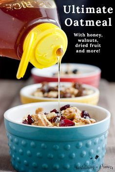 This oatmeal looks awesome!  The Ultimate Pinterest Party, Week 40