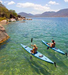 Kayaking in Liwonde National Park,Malawi: #kayak #kayaking #kayaker