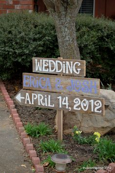 Wedding Signs Spring Lavender Teal Grey, You Pick middle board Color. Reclaimed Wood Reception Decorations. Eco Wedding. Spring Wedding. $90.00, via Etsy.