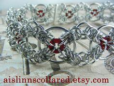 NANA Swirl Pendant Necklace 1 to 9 Stones with a Adj. Earring Tutorial, Bracelet Tutorial, Bracelets For Men, Bracelet Men, Chainmaille Bracelet, Medieval, Bracelet Patterns, Or Rose, Collar Choker