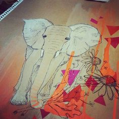 The set is nearly finished! Just final touches and framing to go :) Elephant Illustration