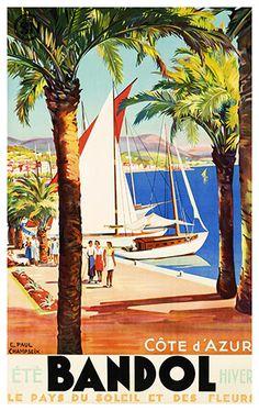 Bandol Cote d'Azur Le Pays de Soleil et des Fleurs by WallArty