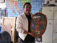 Moises Rodriquez at his home/studio in Tonala Mexico