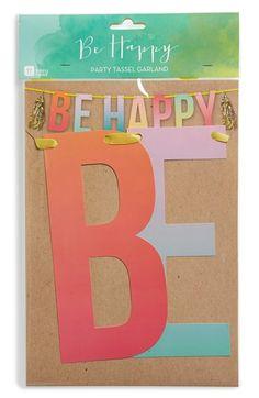 Talking Tables 'Be Happy' Tassel Garland
