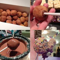 """Sewing Barefoot: """"Fake"""" pops - an easier way to make cake pops - DUH? Sweet Recipes, Cake Recipes, Snack Recipes, Dessert Recipes, Dessert Ideas, Party Desserts, Party Snacks, Party Treats, Yummy Treats"""