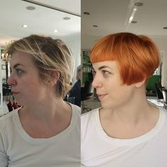 Different Hairstyles, Unique Hairstyles, Pixie Bob, Pixie Cuts, Fringe Bangs, Power Of Makeup, Gothabilly, Make Up Art, Copper Hair