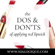 Red lipstick is the ultimate makeup poster child for glamour and timeless beauty, but it can be tough to learn how to properly apply it. In this post, we're going to discuss everything you need to know about how to apply red lipstick in a flattering way. Tips And Tricks, Makeup Tips For Beginners, Beginner Makeup, Red Lipstick Makeup, Red Lipsticks, Eye Makeup, Makeup Contouring, Lipstick Art, Liquid Lipstick