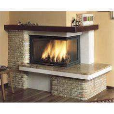 Fireplace Trim, Farmhouse Fireplace Mantels, Paint Fireplace, Living Room With Fireplace, Fireplace Surrounds, Indoor Outdoor Fireplaces, Outdoor Fireplace Designs, Design Moderne, Cuisines Design