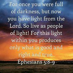 Ephesians 5:8-9