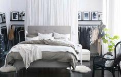 practical storage space ideas Ikea bedroom design