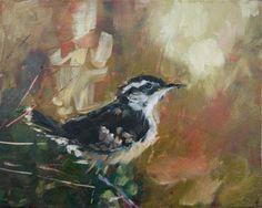 """Daily Paintworks - """"Kwik Stop"""" - Original Fine Art for Sale - © Leslie Miller"""