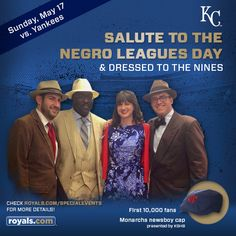 Join us for our 2015 Salute to the Negro Leagues & Dressed to the Nines event, coming up on Sunday, May 17. The first 10,000 fans will receive a Monarchs newsboy cap presented by KSHB!