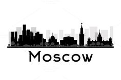 Moscow City skyline silhouette by @Graphicsauthor
