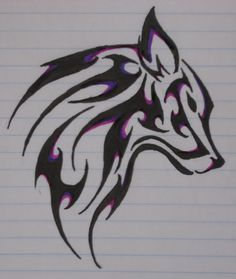 Wolf Tattoo i like this one but i love the colors on it