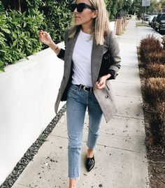 This look is great! Love the jacket with jeans and tee