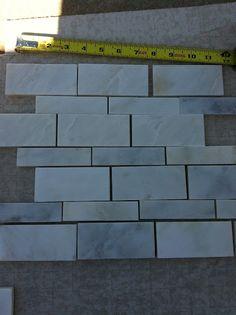 Grey 24x12 Tile In A Subway Pattern Bathroom Ideas