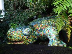Mosaic lizard.