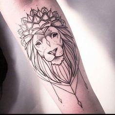 Imagem de tattoo and lion