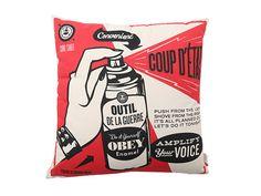 Obey Coup D'Etat Pillow Red - 6pm.com